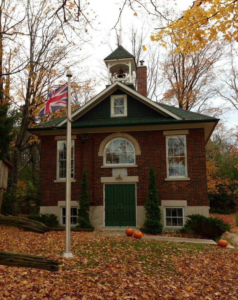 one room school house Elora, Ontario Red school house