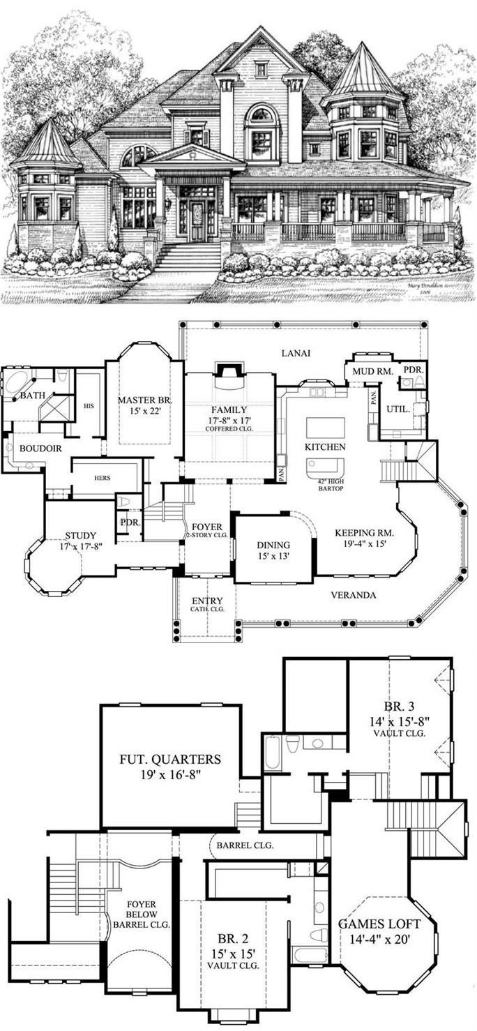 Victorian House Plans Home Design GML D 756