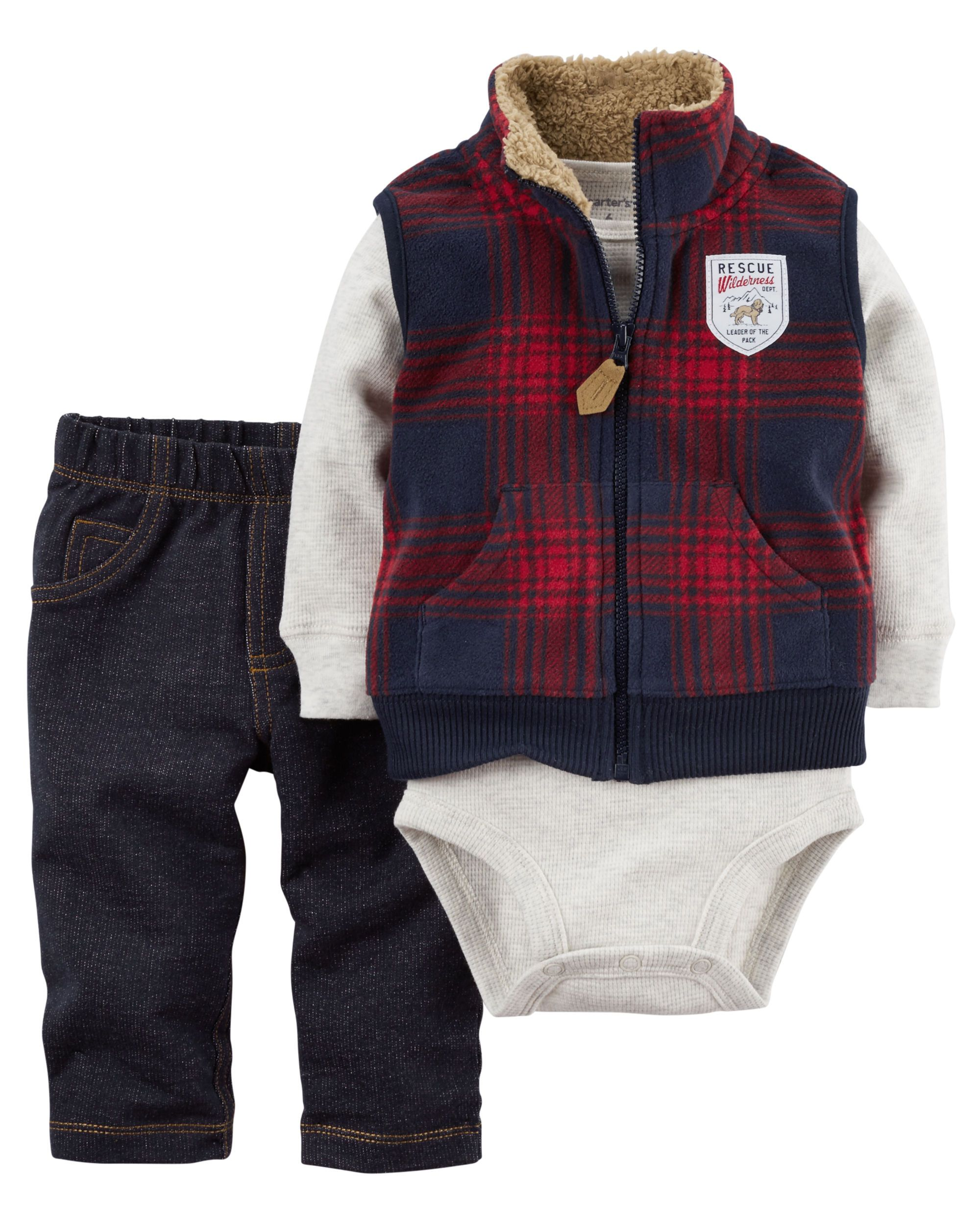 535e81440 Baby Boy 3-Piece Little Vest Set | Carters.com | Baby fashion ...