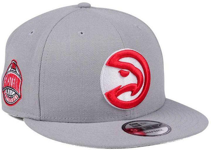 sale retailer 0dd21 9307b New Era Atlanta Hawks Gray Pop 9FIFTY Snapback Cap