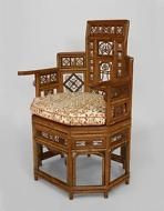 English Regency style (19th Cent) Brighton design bamboo round back arm chair wi