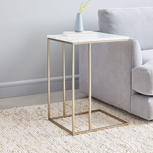 Streamline C Side Table Marble Glass Side Tables Side Table Decor