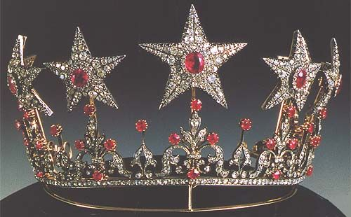 FROM THE VAULT:  Ruby star tiara of the Royal Family of Wurttemberg
