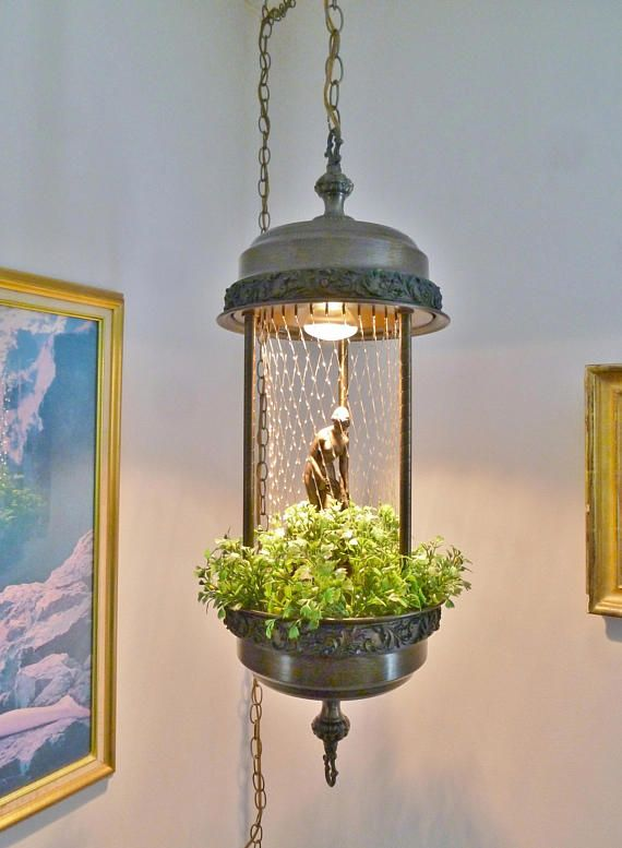 Vintage Creators Inc Hanging Rain Lamp Nude Goddess