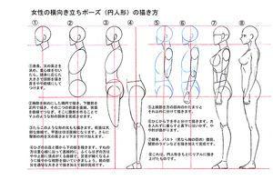イラスト練習人物比率参考画像とアタリの描き方まとめ Naver まとめ