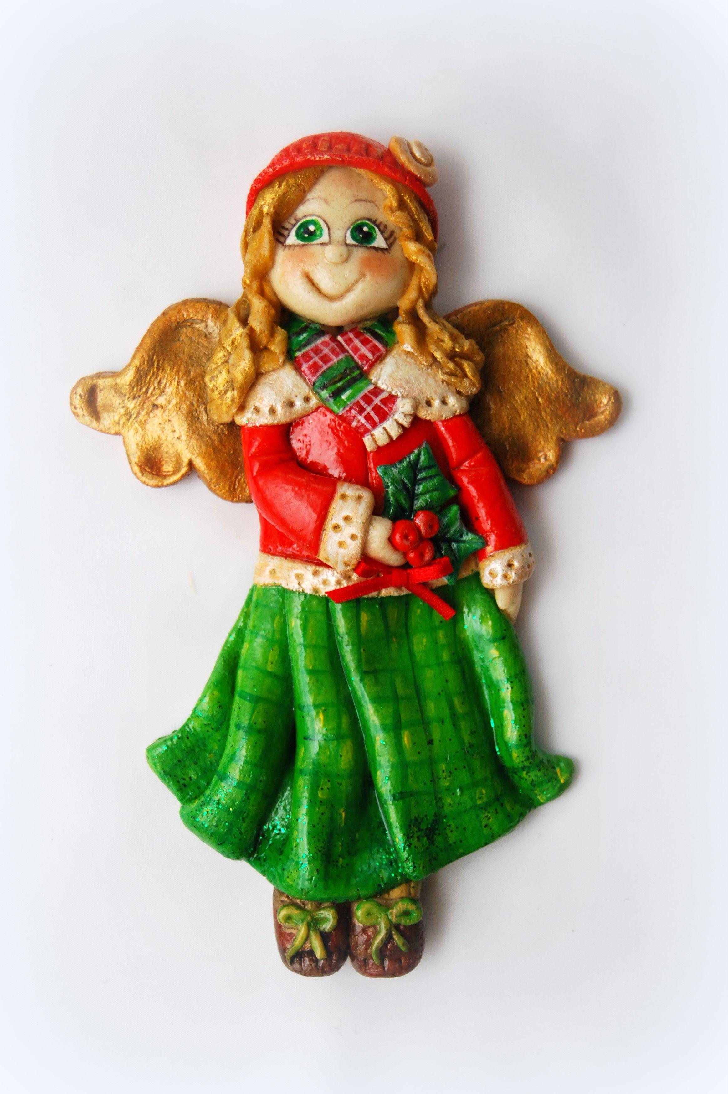 Anioł z masy solnej, świąteczny