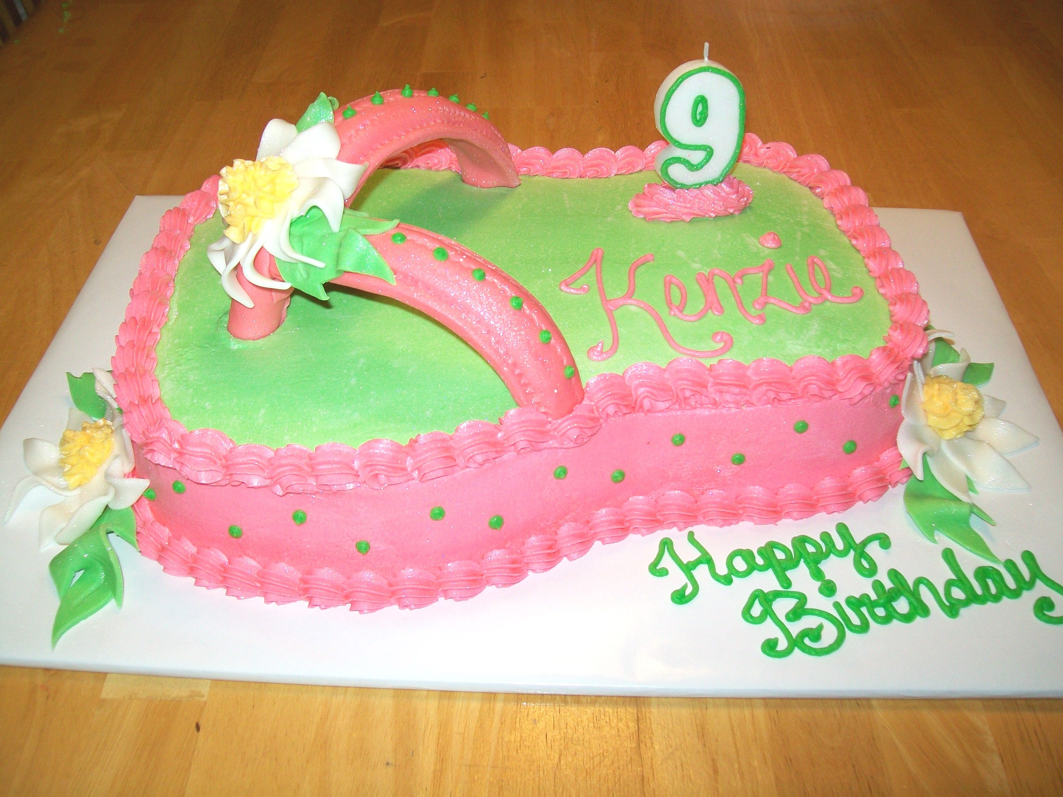 Hot Pink Flip Flop Cake With Images Flip Flop Cakes Cake