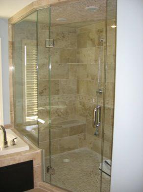 Frameless Return Shower Doors With Knee Walls Minneapolis Custom Shower Enclosures Mn Cust Frameless Shower Enclosures Shower Enclosure Custom Shower Doors