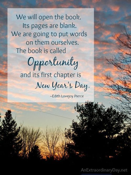 opportunity new years day