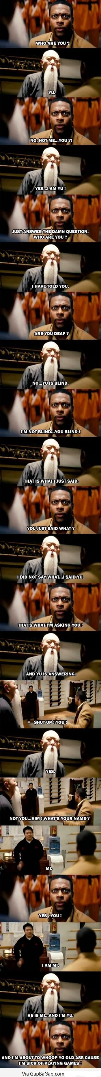 Funny Pictures Of Chris Tucker vs. Chinese Man