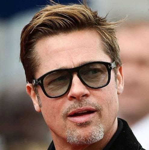 Brad Pitt Circle Beard Facial Hair Style Circle Beard Royale Beard