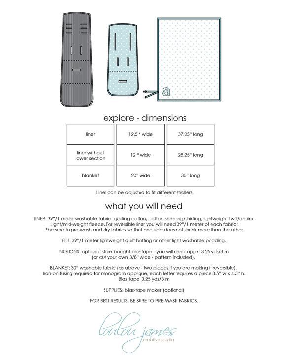 Stroller liner pattern: Explore stroller liner PDF pattern & blanket ...
