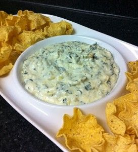 Skinny Spinach and Artichoke Dip