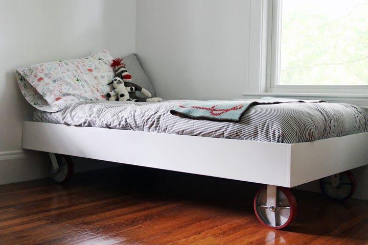 Diy Bed On Wheels Diy Bed Frame Diy Bed Diy Furniture Bedroom