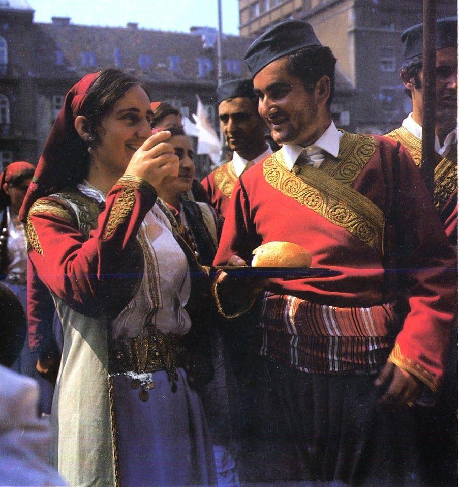 Crna Gora Montenegro . Traditional Costumes Of Europe