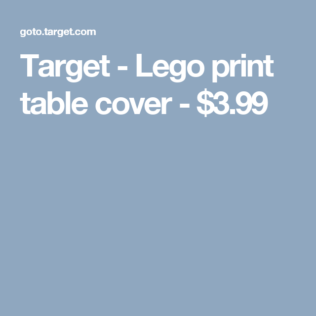 Target - Lego print table cover - $3.99