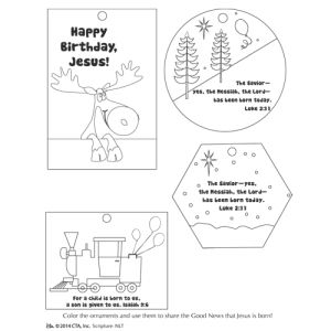 Happy Birthday Jesus Ornament Coloring Page (With images ...