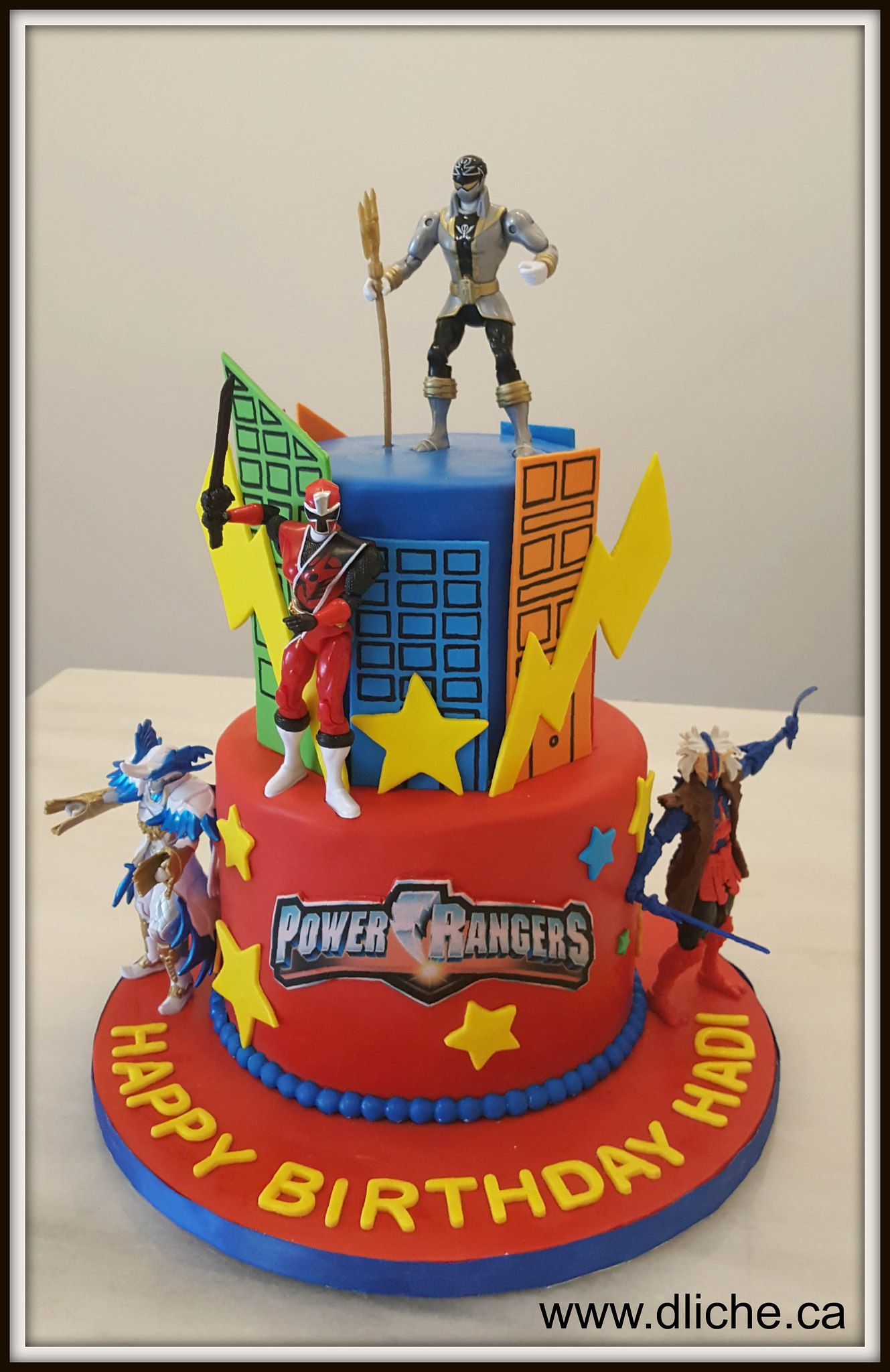 Pleasing Power Rangers Cake Vous Desirez Un Gateau Dexception Pour Birthday Cards Printable Opercafe Filternl