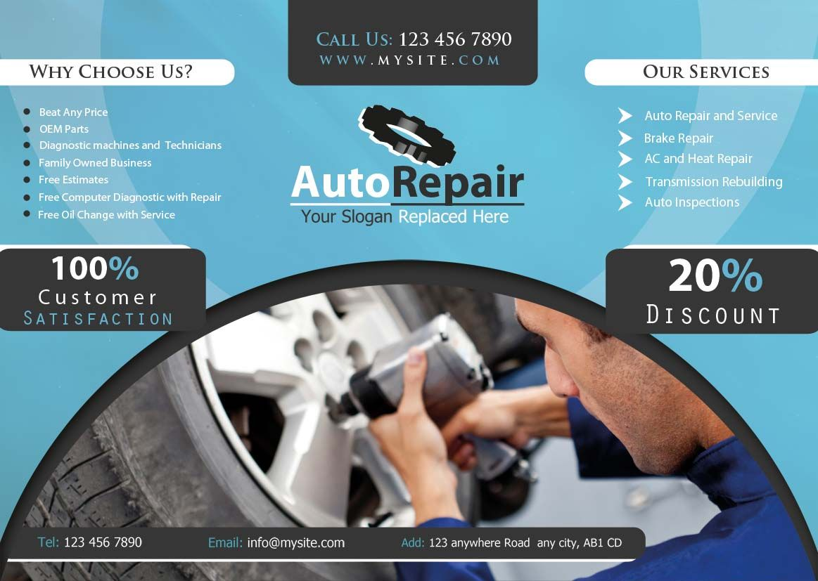 Flyers Fotosnipe Blog Auto Repair Shop Auto Repair Flyer