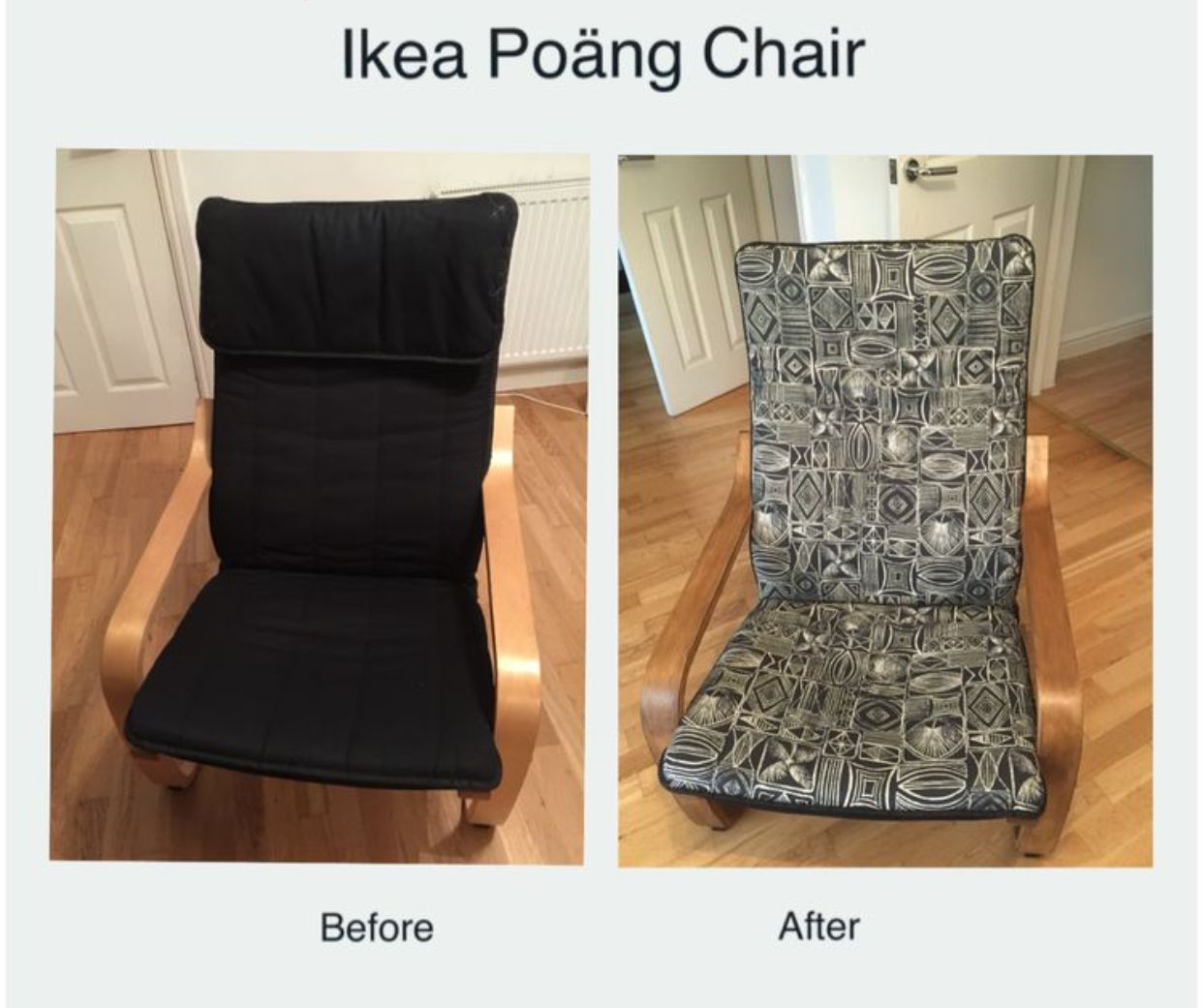 So Proud Of My Ikea Poang Chair Makeover I Used A Tribal Design