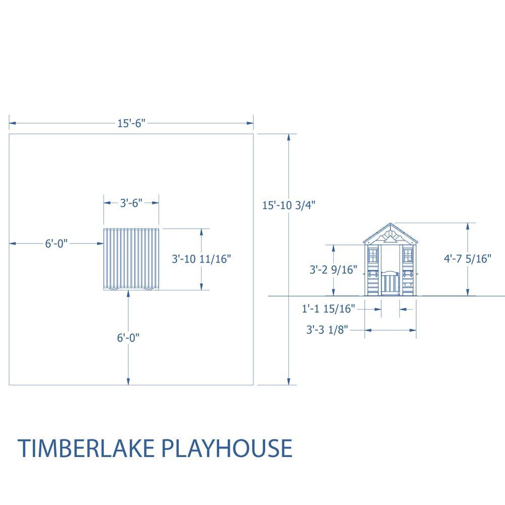 backyard discovery timberlake all cedar playhouse ships to