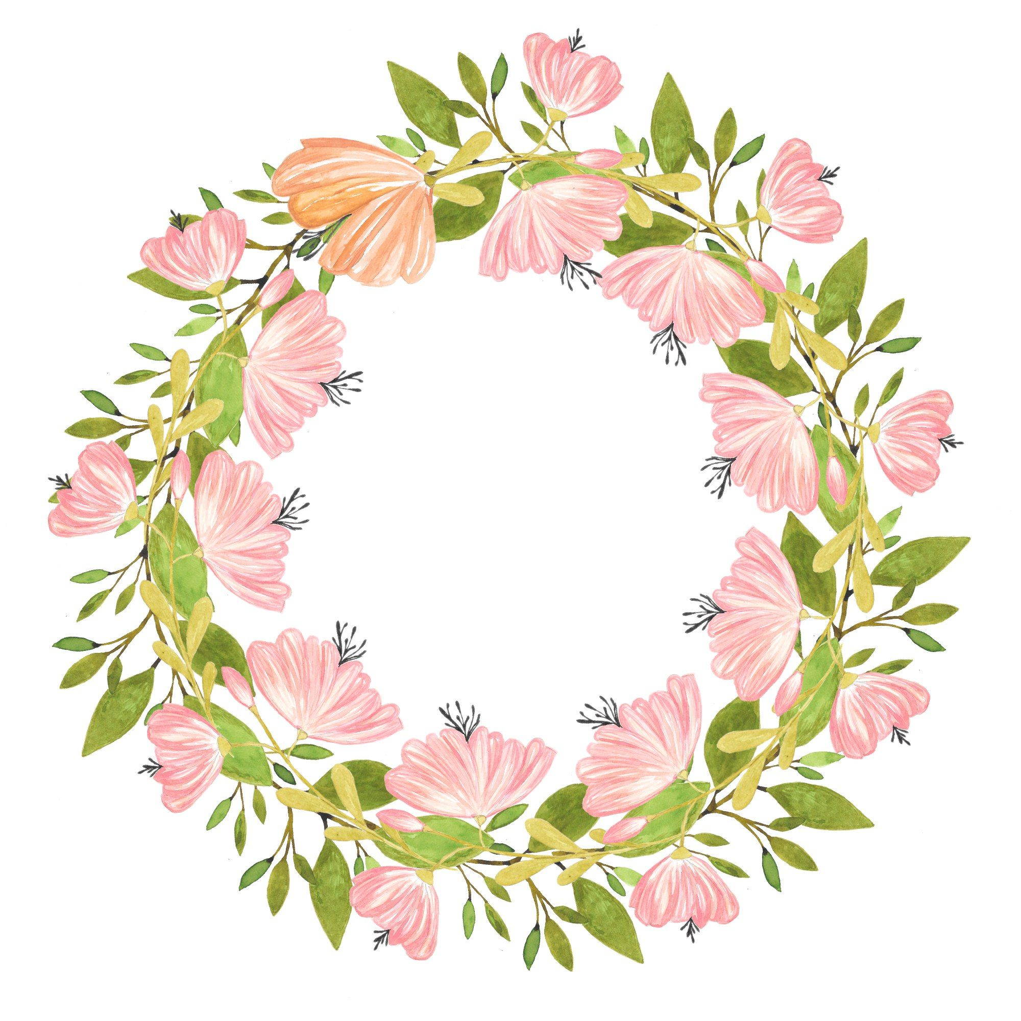 Art, flowers, printable, cute, illustration