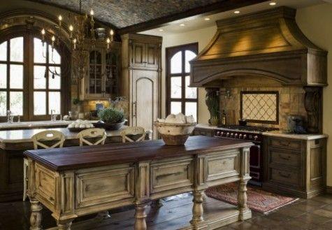 Old World Kitchen Decor Old World Kitchens Mediterranean