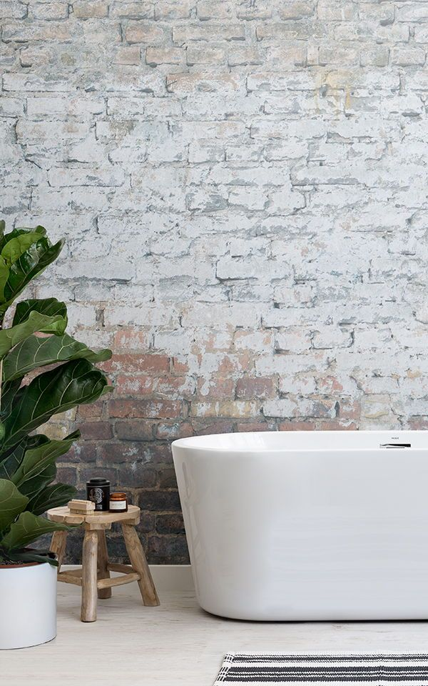Create A Modern Rustic Bathroom Space With Truly Unique Wallpapers That Reflect Natural Textures Of The Great Outdoors In Comfort Your Own