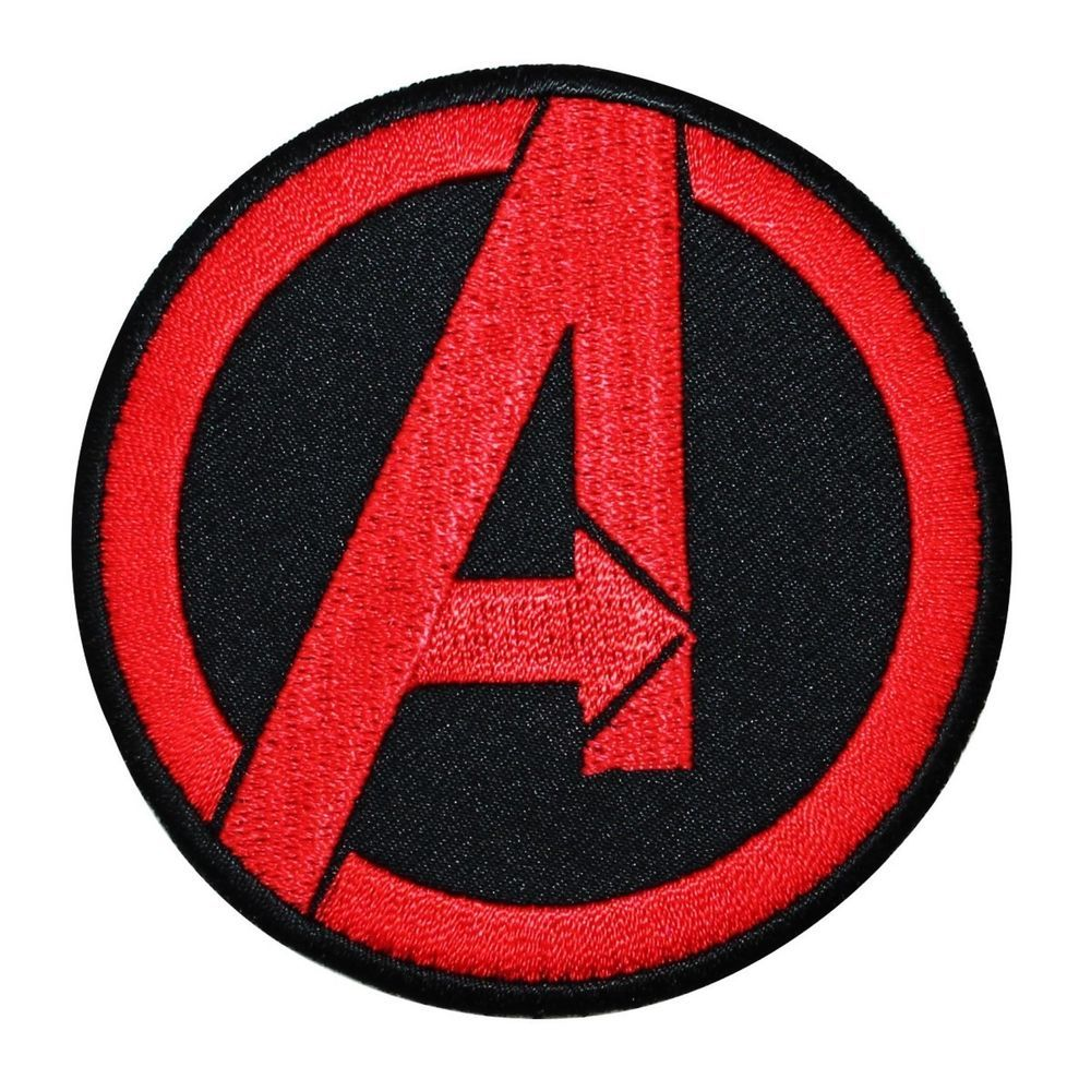 Marvel Avengers Logo Iron-On Patch Superhero Applique Embroidered Patch T-Shirt