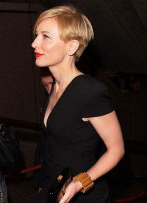 Cate Blanchett Chic Pixie Haircut Side View Of What To Do With The