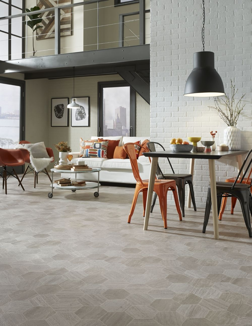 a stylish blend of color, texture and form, mannington's hive lvs