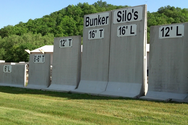 Precast Concrete Bunker Silo L And T Panel Walls Precast Concrete Silos Retaining Wall Design