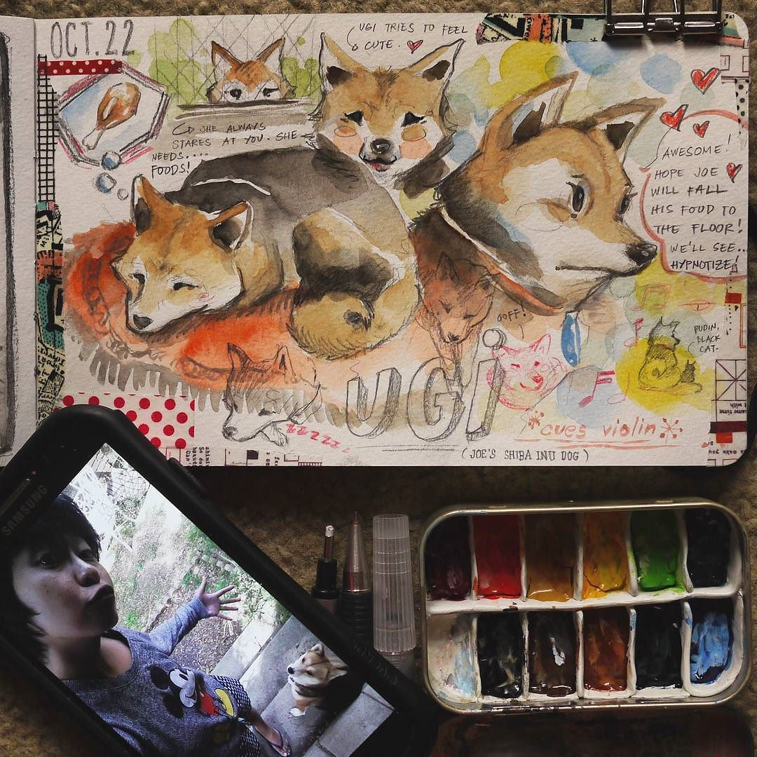 Ugi  #shibainu #moleskine #diary #journal by shardula | Mall