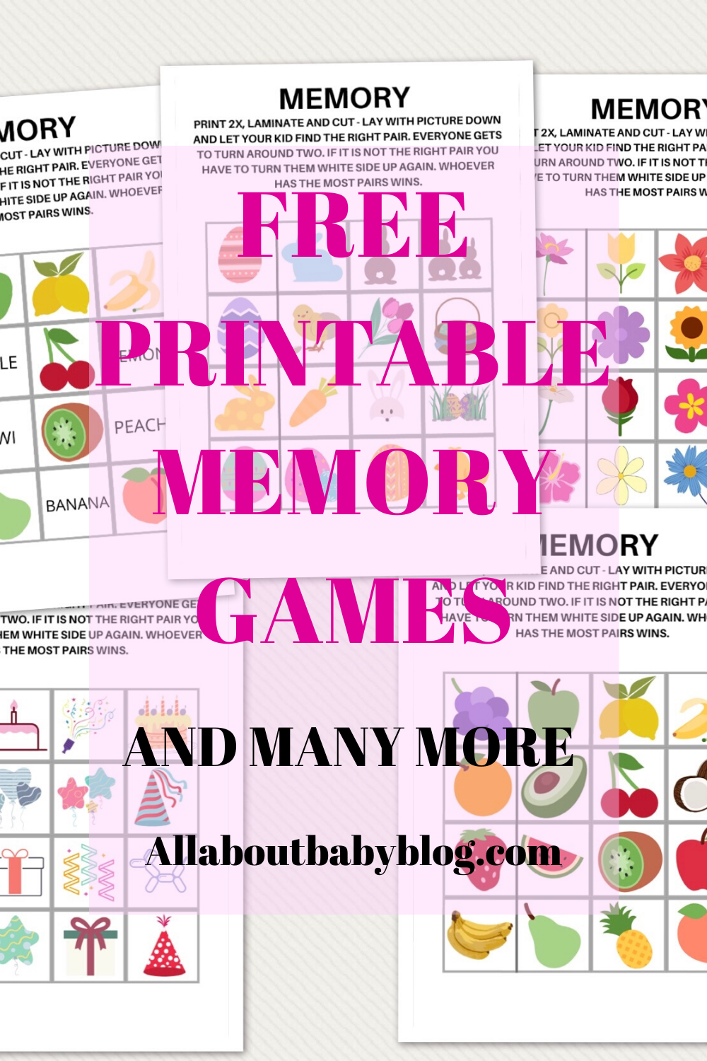 Keep the fun going with 5 free printable memory games for