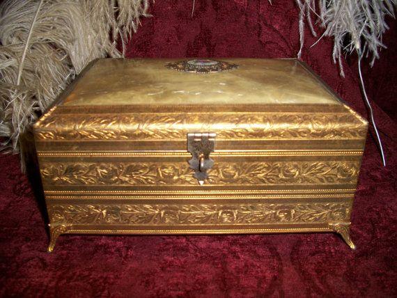 Antique 1920s Victorian Jewelry Music Box SALE 13500 Victorian