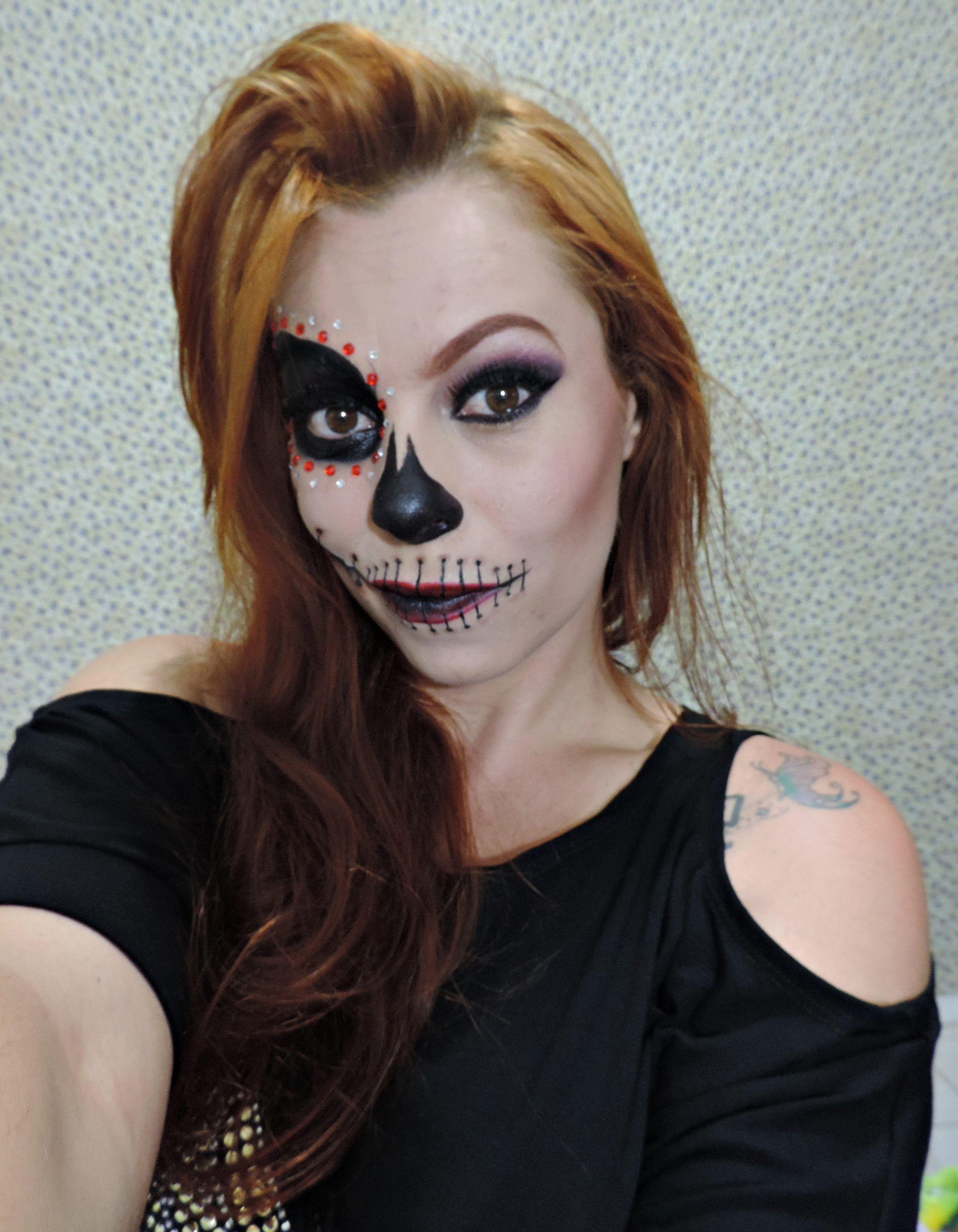 Maquiagem mulher caveira
