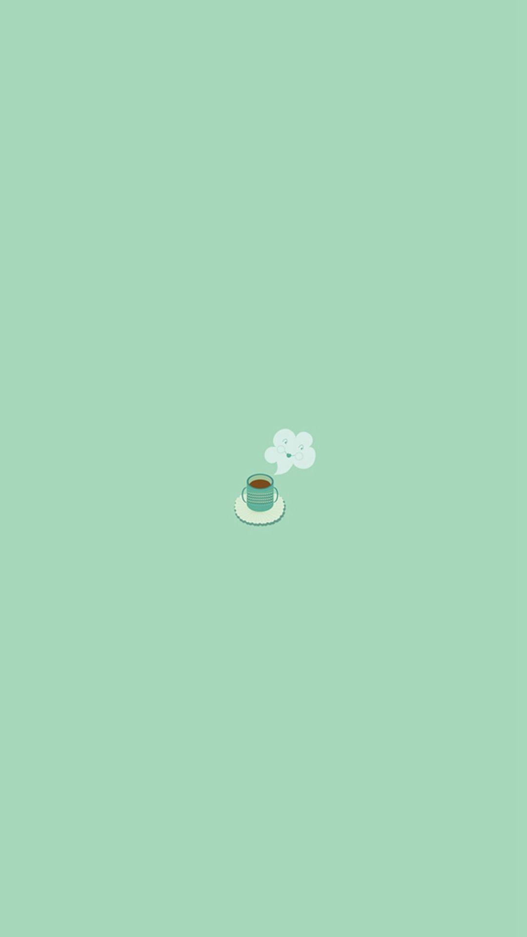 Simple Coffee Mug Flat Illustration Iphone 6 Wallpaper Download Iphone Wallpapers Ipad Coffee Wallpaper Iphone Simple Iphone Wallpaper Minimalist Wallpaper