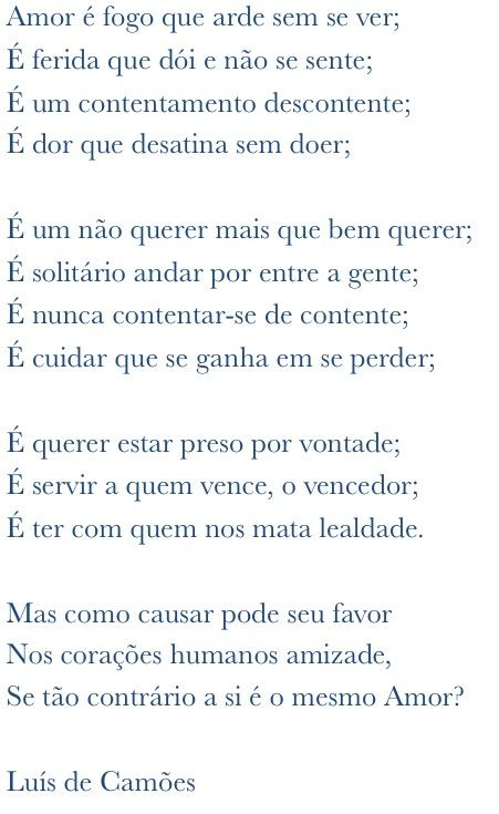 Camoes Citacoes Poemas Frase Para Refletir
