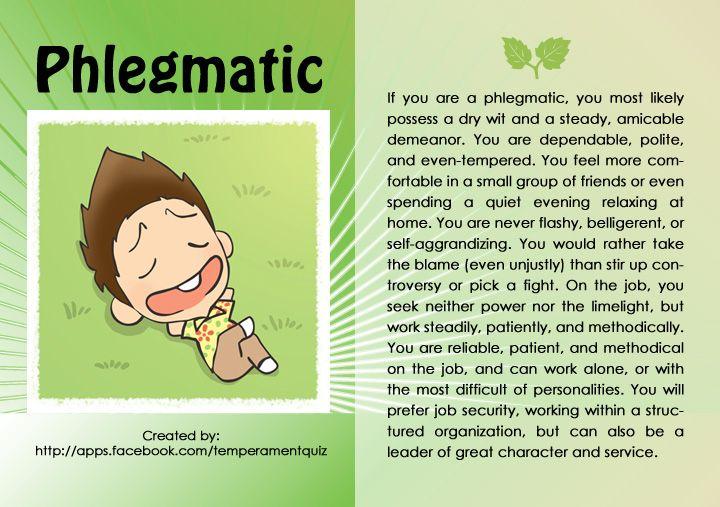 phlegmatic temperament meaning