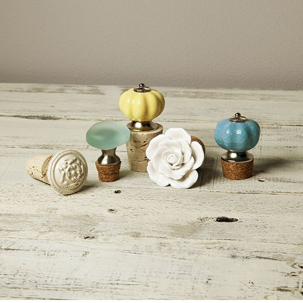Easy Designer Bottle Stoppers Project | Bottle stoppers, Cork and ...