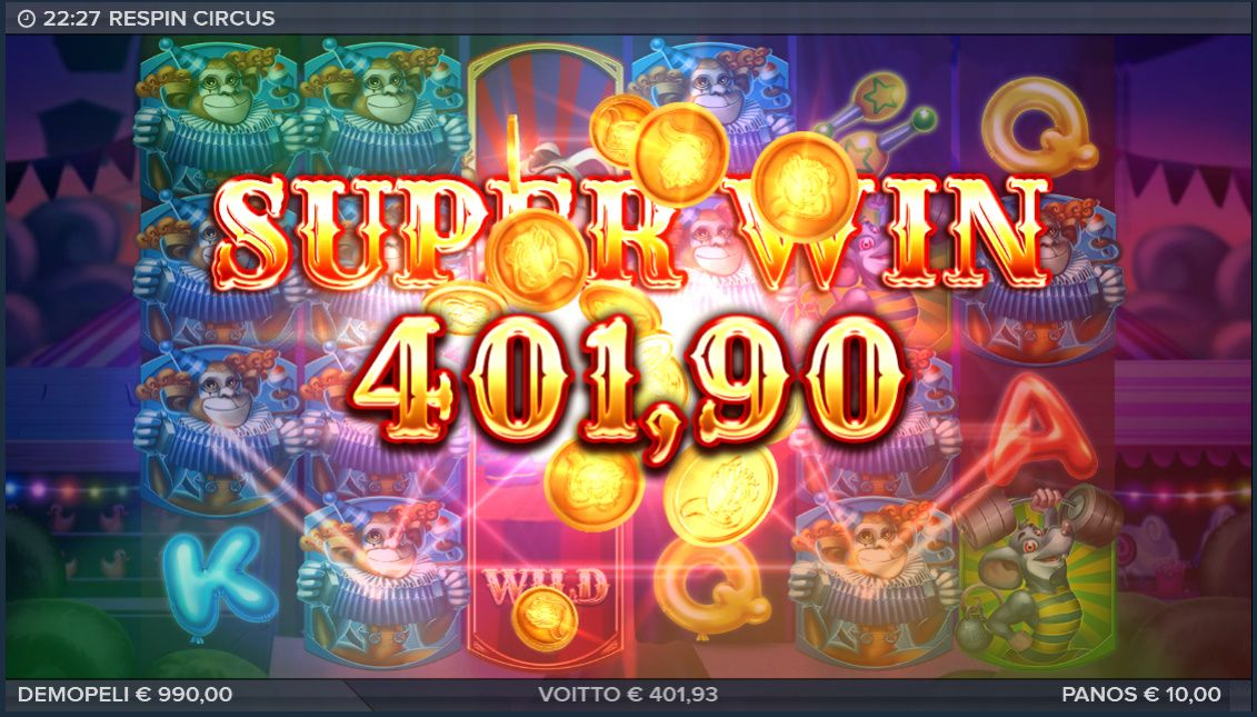 Respin Circus Big Win Slot, Circus, How to look better
