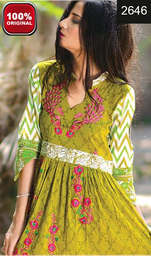 Wyrm 2646 Full Front Embroidered Designer 3pc Lawn Suit With Lawn