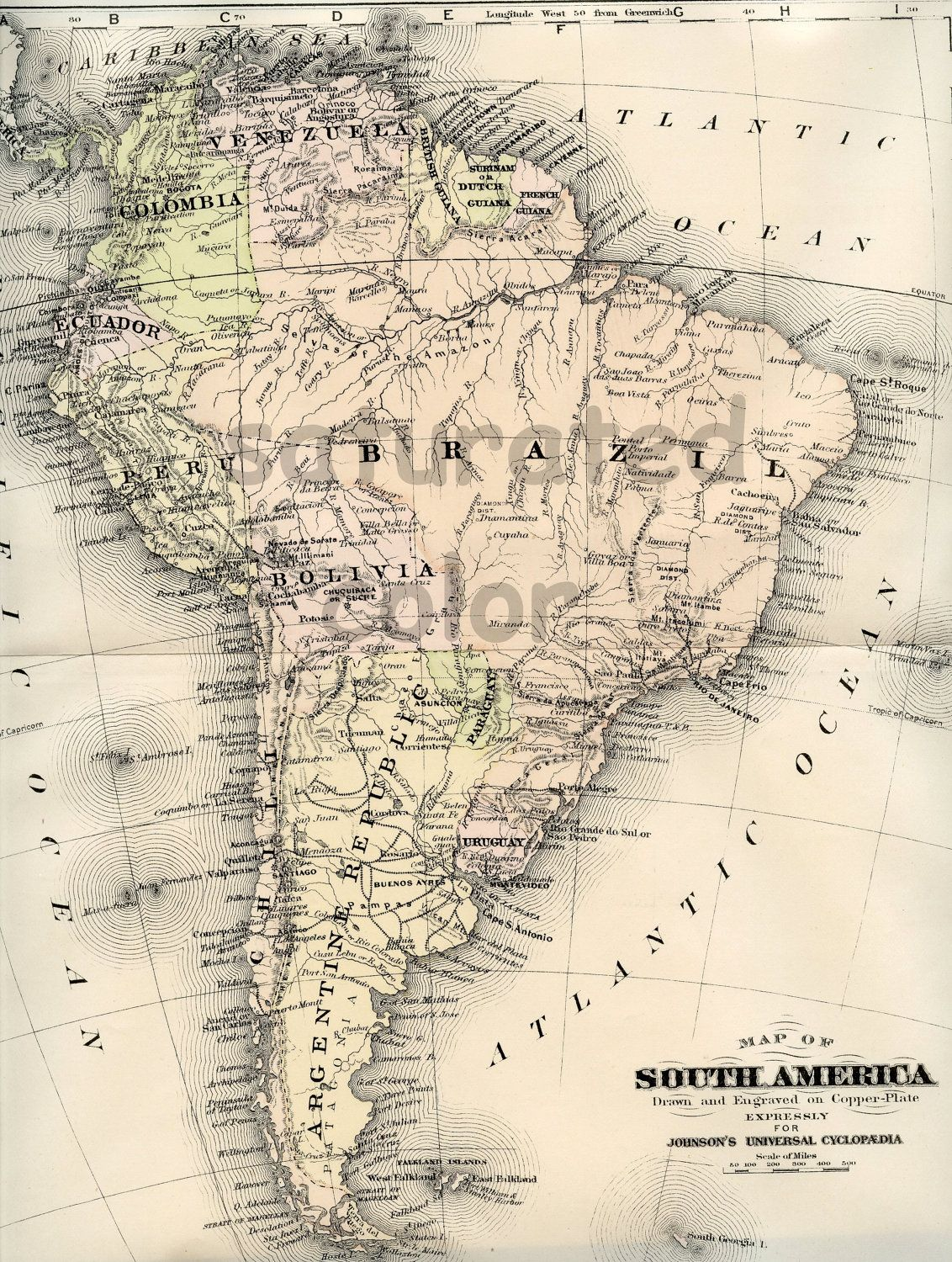 topographic map of argentina brazil and