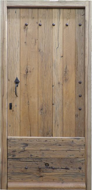 porte dentre bois massif vieux chne entry door made of reclaim oak