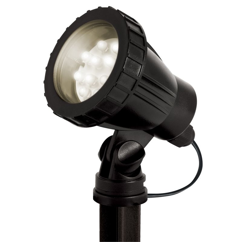 Aquapro Warm White 12 LED Pond And Garden Light is part of garden Lighting Led - water feature to illuminate every angle and showcase the beauty of your garden masterpiece  Each light comes with 4 different colour lenses so you can swap out the white light and shine blue, red, green or yellow into the water flow, or onto your magnificent ferns  Each light comes with a 10 metre low voltage cable, allowing it to be placed anywhere in your garden whilst being completely safe around pets and children  All lights come with a weighted base, or a garden spike for easy installation  Fully Submersible Can be mounted with a weighted base plate or garden spike Low Voltage Allowing for Completely Safe Installation around Pets and Children 12V Transformer Included in the Box 12 Month Warranty
