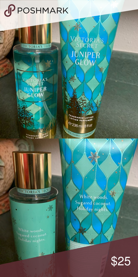 Sale Juniper Glow Set Victoria Secret Fragrances Victoria Secret Body Spray Victoria Secret Perfume