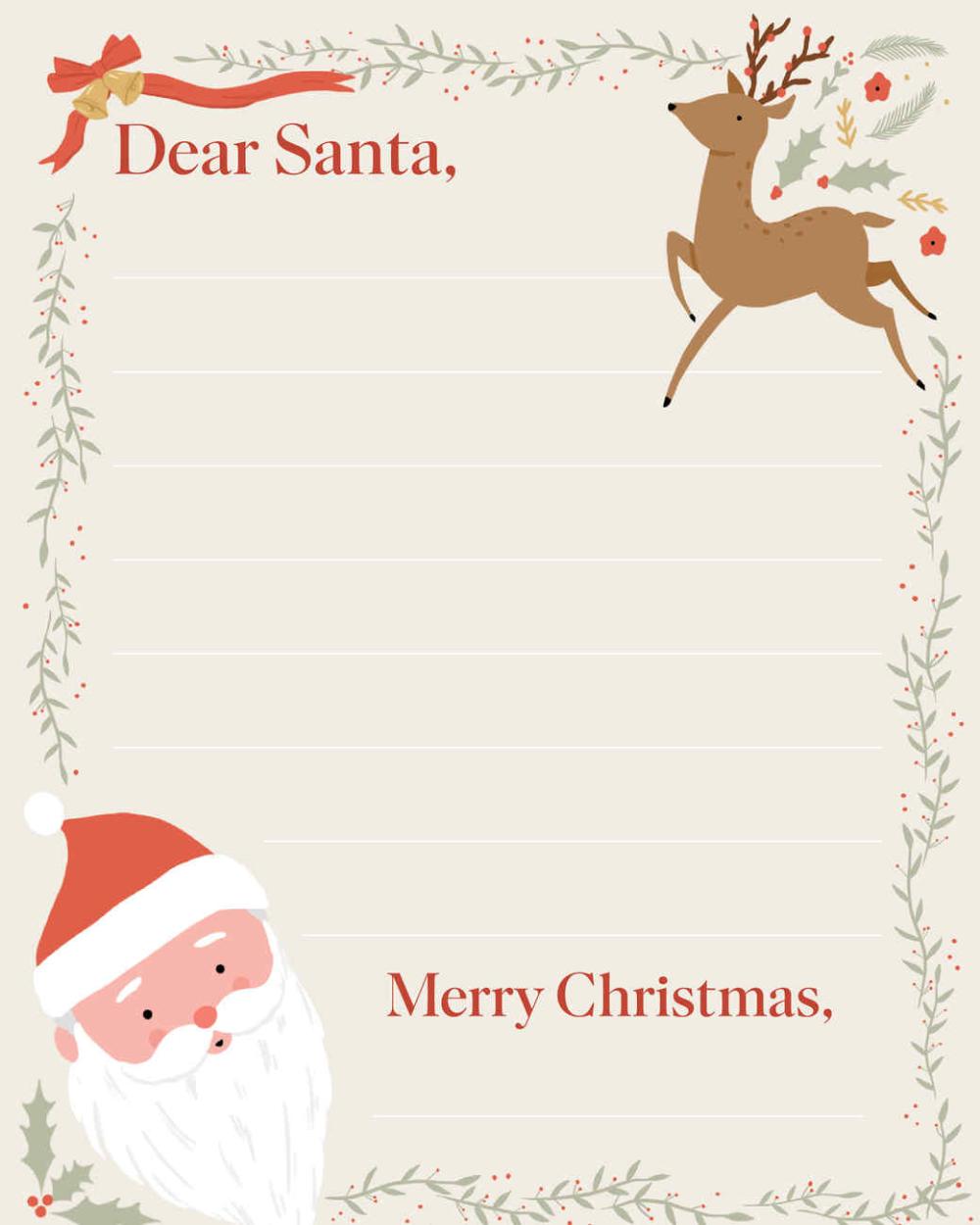 Letter to Santa Santa letter, Santa letter template