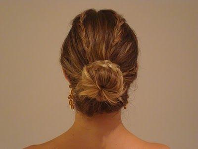 Penteado preso coque tranças