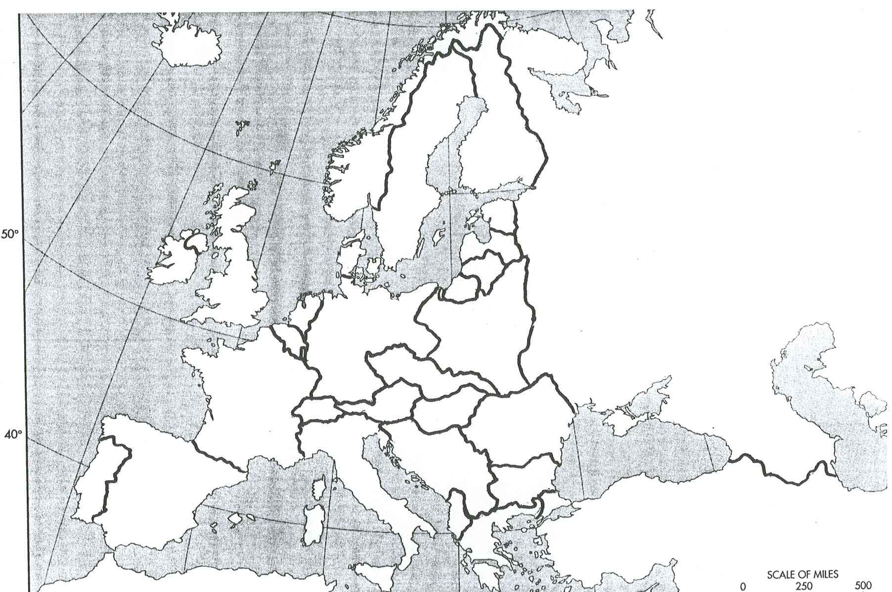 blank map of europe after world war II | Here are the Topic #2 ...