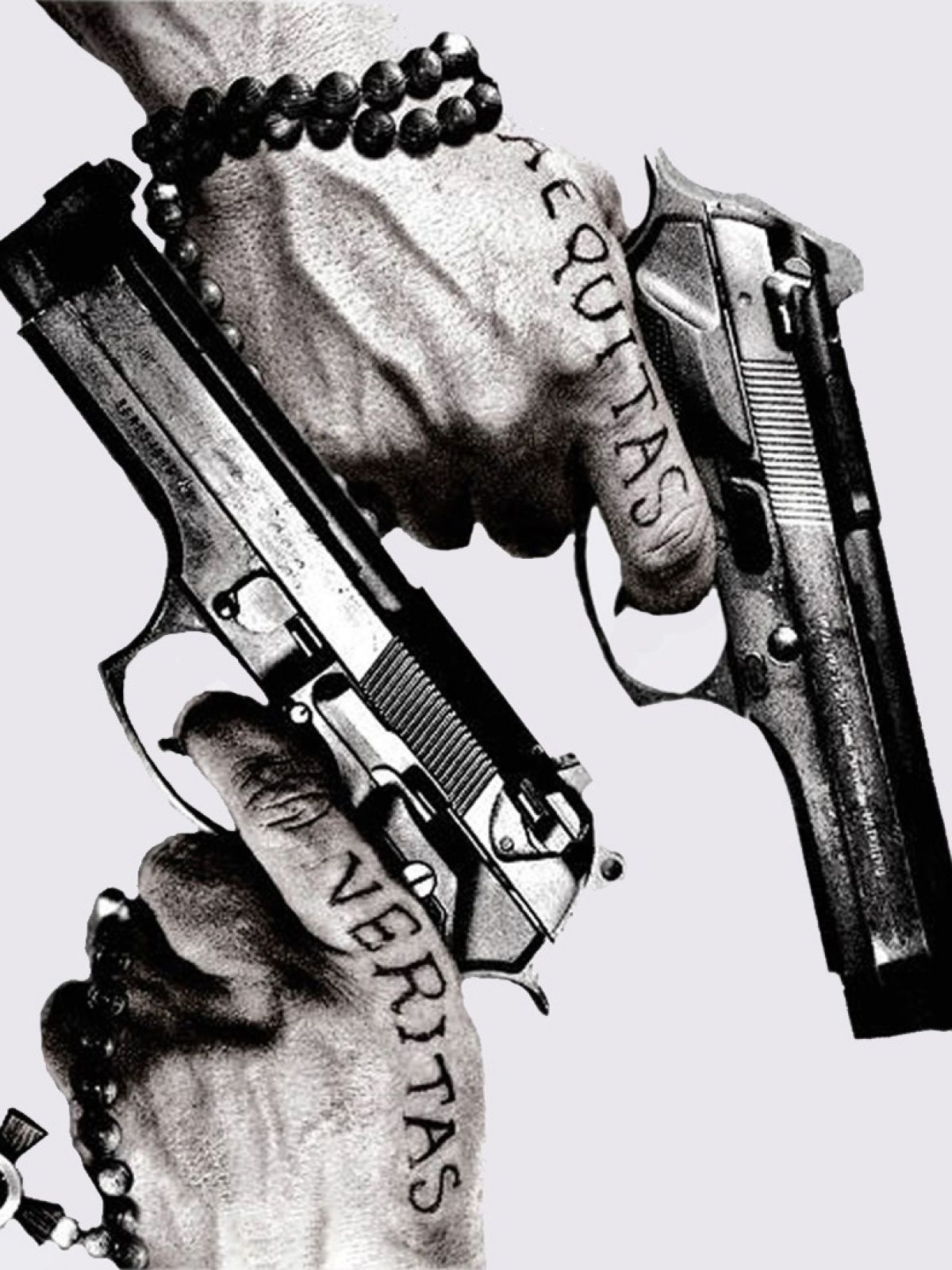 Guns Tattoos Aequitas Veritas Android Wallpaper.jpg 1.200
